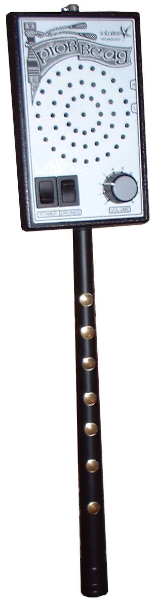 Photograph of the Piob Beag electronic bagpipe